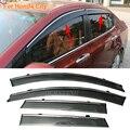 Stylingg toldos abrigos 4 pçs/lote viseiras da janela do carro para honda city 2009-2016 sol chuva escudo adesivos covers