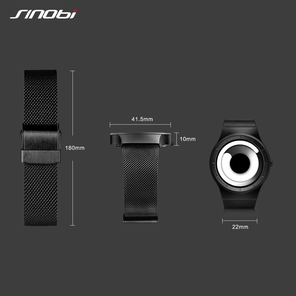 Unique Vortex Concept Watch Men High quality 316L Stainless Steel Milan Band  Modern Trend Sport Black Wrist Watches For Male Hot-in Quartz Watches from  ... 45cd9a9914d2