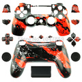 Hydro Dipped Red Splatter Replacement Housing Shell Case Part Kit for Sony PS4 Dualshock 4 Wireless Controller  shell