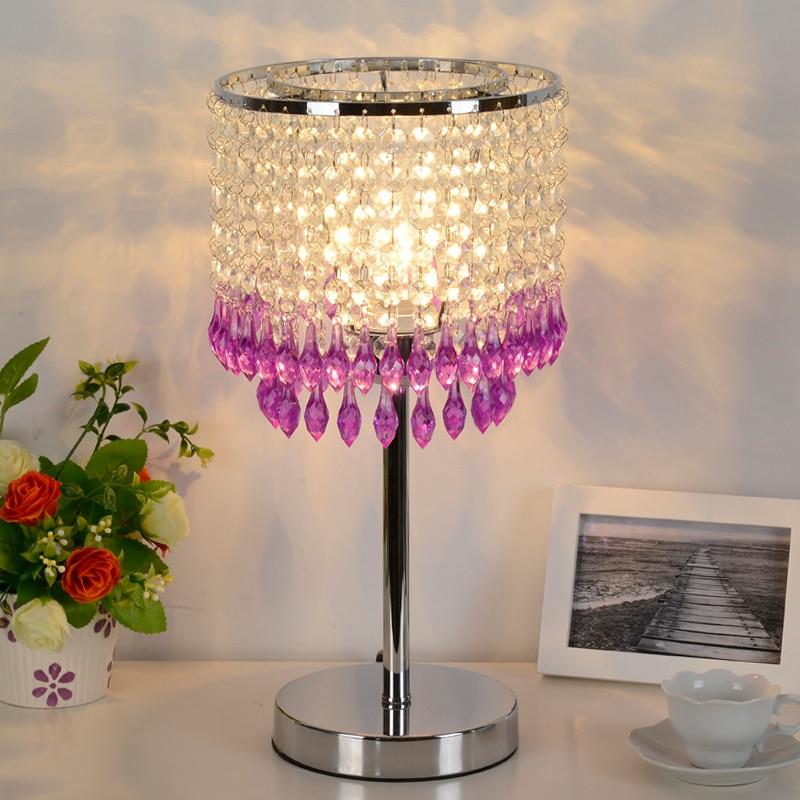 Bohemia Modern simple luxury fashion crystal lamp hotel lamps festival lights romantic bedside lamp wedding gift BXY9