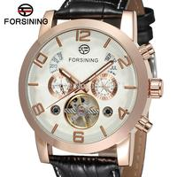 FSG165M3G1 Latest Design Automatic Business Fashion Watch For Menwith Black Genuine Leather Strap Gift Box For