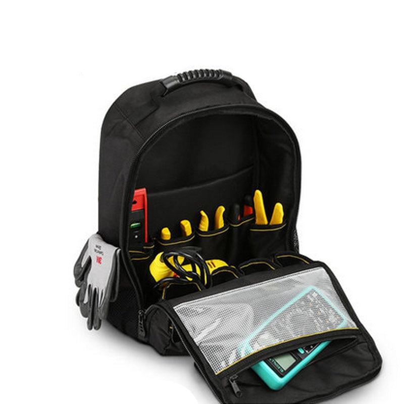 ツールバックパック商人オーガナイザーバッグ防水ツールバッグ多機能ナップザックはんだごて収納袋  グループ上の ツール からの ツールバッグ の中 1