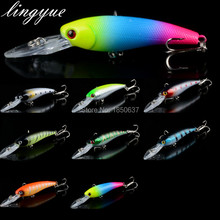 New Sale 1pcs hard minnow slow floationg fishing lures 9cm/8.5g tight Wobblers fishing tackle Crankbaits Lure