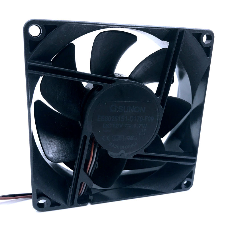 Brand New For EP6127A Projector <font><b>fan</b></font> Sunon EE80251S1-D170-F99 DC 12V 1.7W 3-pin 3-pin connector <font><b>80mm</b></font> 80x80x25mm Server Square <font><b>fan</b></font> image