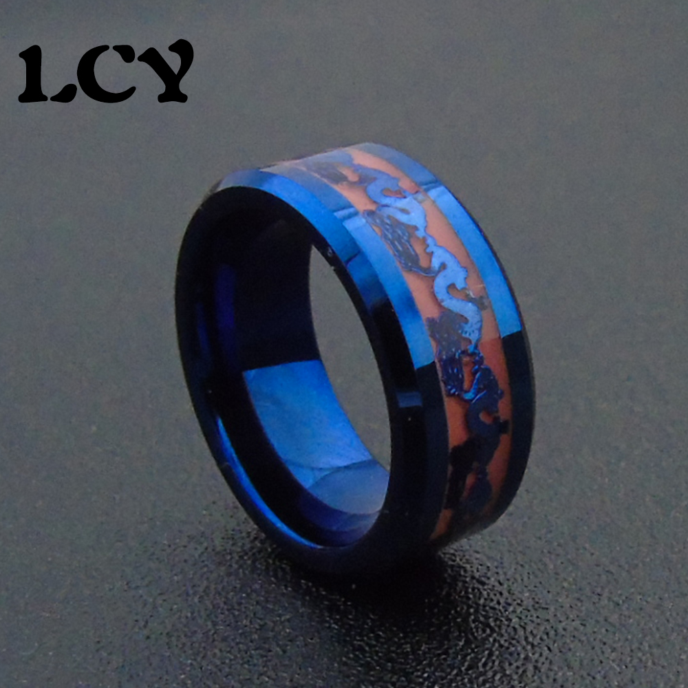bb steel liumo breath black ring blue products dragon titanium rings vikingsbrand viking men stainless s carbon fiber classic dragons