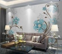 European Brief 3D Painting Wallpaper stereoscopic jewelry flowers Art Modern fashion sofa TV Desktop