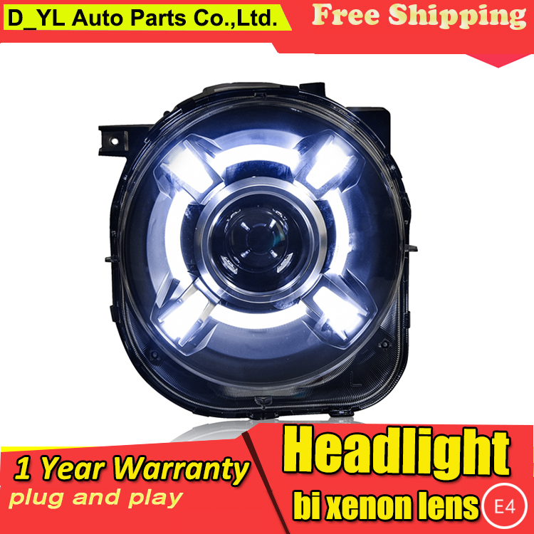 Car Styling Headlights for Jeep Renegade2016 LED Headlight for Renegade Head Lamp LED Daytime Running Light