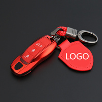 Car Styling Key Case For Porsche Boxster Cayman 911 Panamera Cayenne Key Chain Cover Key Case Cover Holder Ring