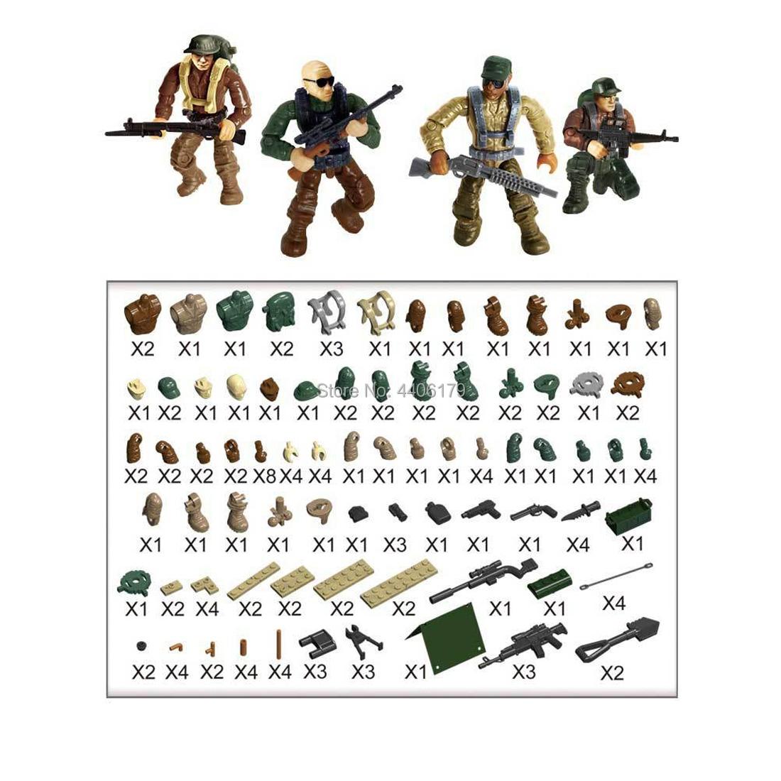 hot LegoINGlys military base war Sirius Commando soldier figures Building Blocks weapons guns model brick toys for children gift