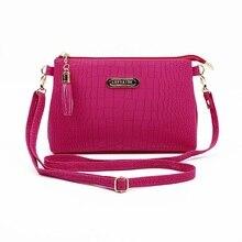 Женщин Известный модный бренд кисточкой небольшой сумки Горячая продажа крокодил женские кожаные сумки на плечо мини сумка Кроссбоди сумк...(China)