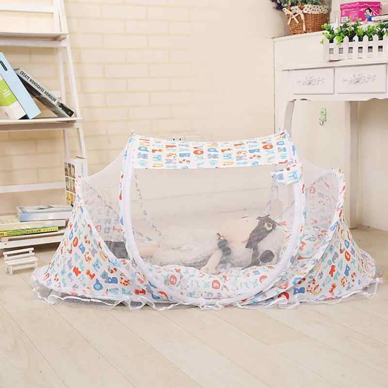 Summer Baby Mosquito Net Infants Breathable Foldable Sleeping Cradle Crib Bed Cover with Pillow Baby Care Anti-Insect Net
