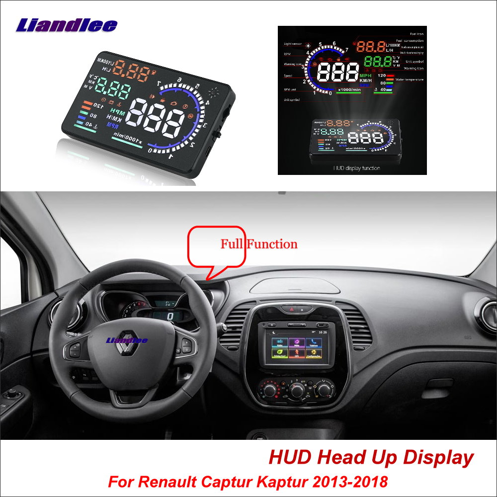 Liandlee Car Head Up Display HUD For Renault Captur Kaptur 2013 2018 Dynamic Driving Computer HD
