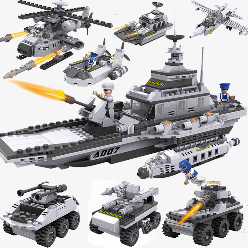 743pcs Military WarShip Blocks Educational Assemble Building Block Sets Educational Toys For Children Building Bricks Model hot sale ailang classic mens watches top brand luxury automatic mechanical watch fashion male clocks stainless steel gold watch