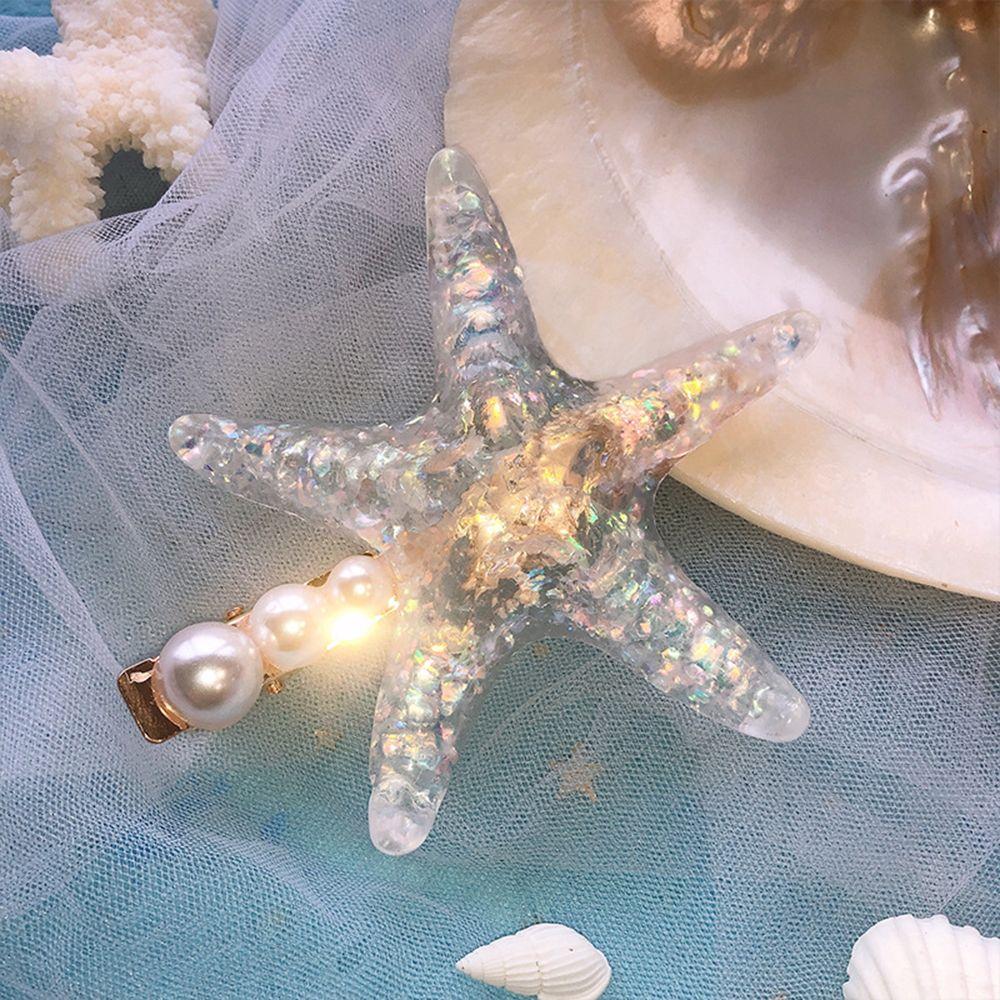 Купить с кэшбэком Elegant Starfish Star Hair Clips For Lady Women Hairpins Summer Beach Holiday Party Barrettes Hair Accessories Dropshipping