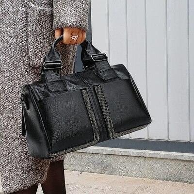 真新しいファッション女性大トートバッグ枕バッグ高品質 pu レザーハンドバッグソリッドカジュアルショルダーバッグメッセンジャーバッグ  グループ上の スーツケース & バッグ からの トップハンドルバッグ の中 1