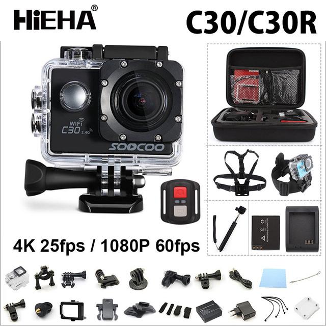 Soocoo c30/c30r action sports camera 4 k wifi 1080 p/60fps ir hd subaquática bicicleta ao ar livre pro ntk96660 30 m à prova d' água câmera de ação