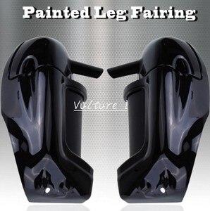 Яркий черный нижний вентилируемый обтекатель для Harley HD Road King Street Glide Touring parts