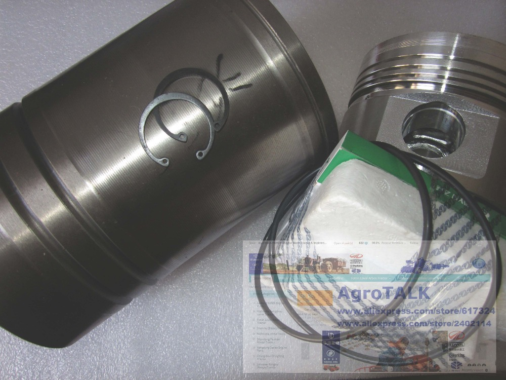 JIANGDONG single cylinder engine ZH11133ND, set of engine piston, pin, piston rings, circlip cylinder liner, water sealing ring цена