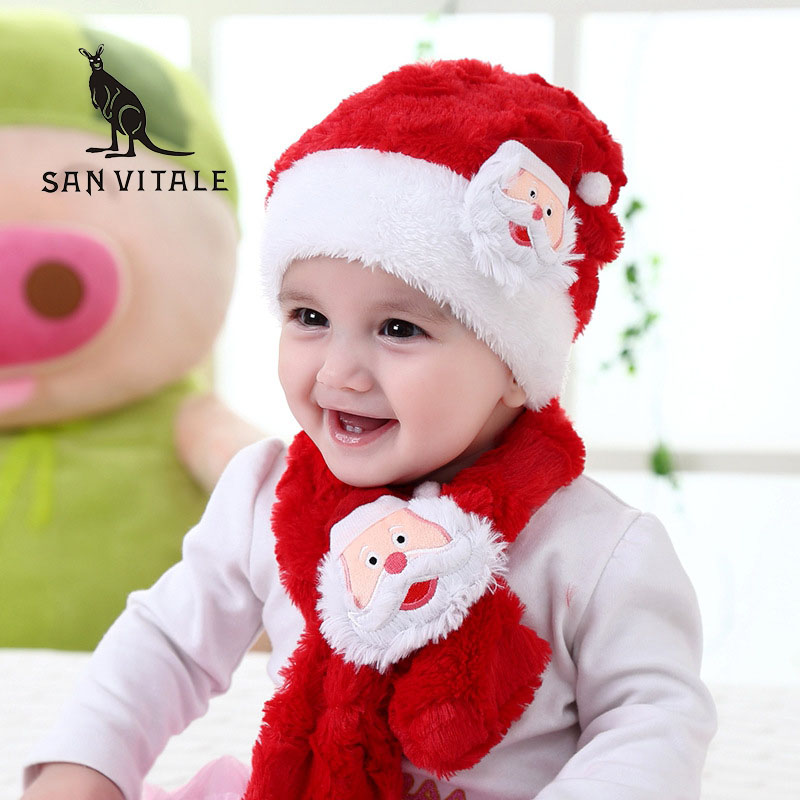 Scarves Set For Baby Girls Boys Scarf Cape Gift Winter Warm Cashmere Pashmina For Christmas Dress Luxury Brand Scarfs 2017 New