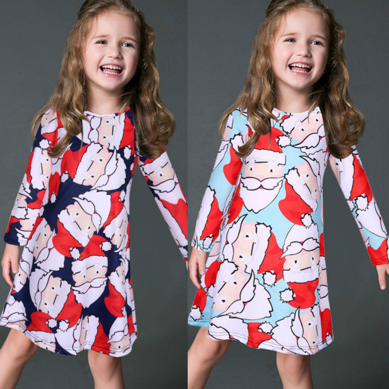 Girls Dress New Long sleeves Dresses Kids Vestido Jurken Girl Children Vestidos Princess Dress Cartoon Printing Onepiece dress