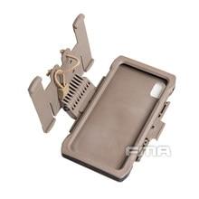 Fma bolsa militar para celular 3 cores, equipamento molle para caça ao ar livre, acessório para telemóvel ip xs max