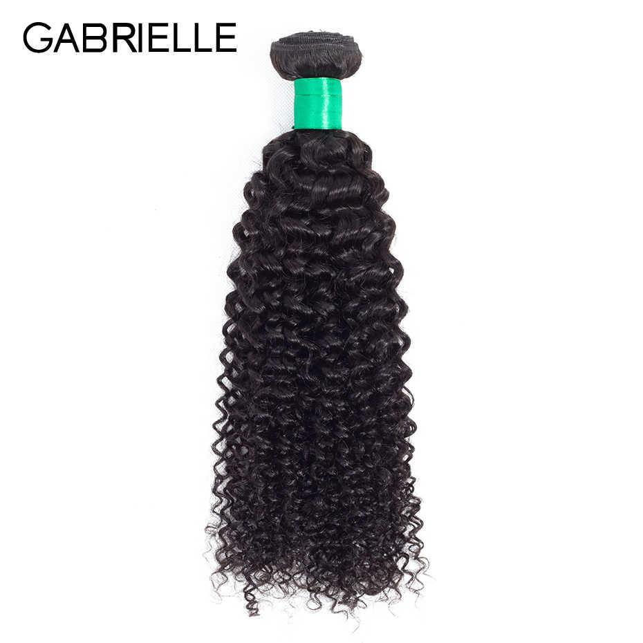 Gabrielle Brazilian Rambut Manusia Keriting Keriting Rambut Bundel 8-28 Inci Warna Alami Non Remy Rambut Menenun 1 Buah gratis Pengiriman