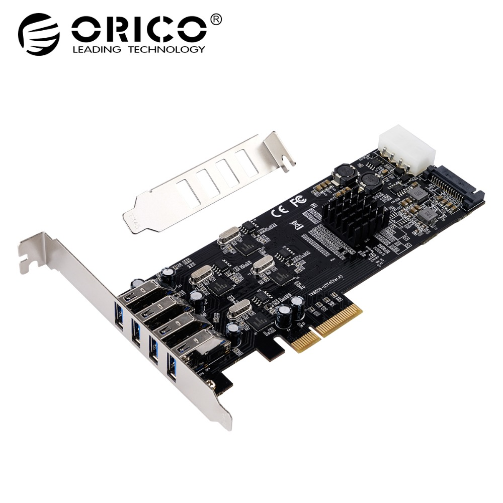 ORICO High Speed PCI Express Expansion Card Adapter 4 Port PCIE To Independent USB3.0 Expansion Card 5Gbps 4/15Pin PCI Express fashion women pumps gladiator peep toe women high heels shoes women casual thin heel buckle strap summer high heel pumps
