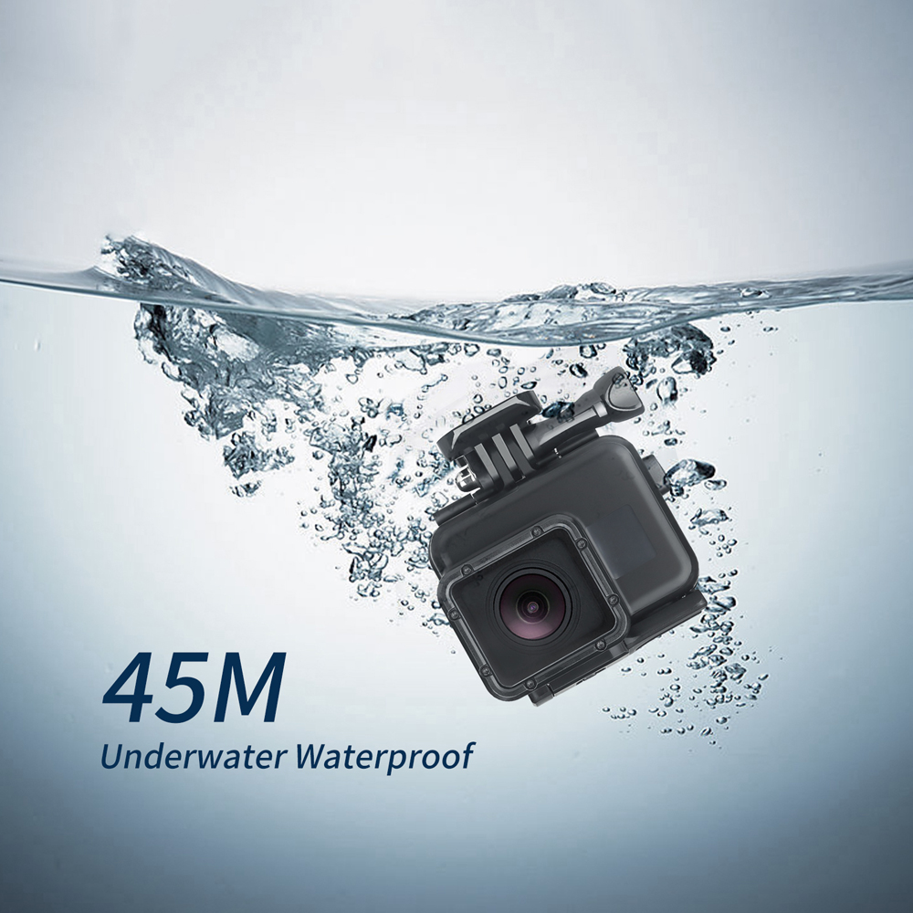 ATIRAR 45 m Underwater Waterproof Case para GoPro Herói 6 5 7 Preto  Mergulho Capa Protetora Habitação Monte para Go pro 6 5 7 Acessório em  Sports Camcorder ... 560e24533e