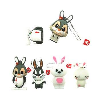 pen drive cartoon rabbit usb flash drive 4GB 8GB 16GB usb Memory card usb flash memory stick pendrive thumb drive disk