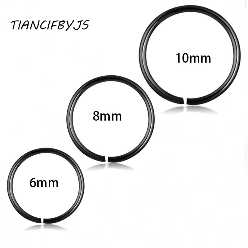 Tiancifbyjs Mix 3 Sizes Stainless Steel Black Rainbow Gold Silver