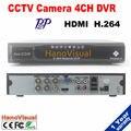 4ch DVR С HDMI 4CH D1 H.264 P2P Motion Detect 4CH аудио Suppot Удаленного Обзор PTZ iPhone Android Для CCTV Камеры Motion обнаружить