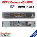 4ch DVR With HDMI 4CH D1 H.264 P2P Motion Detect 4CH Audio Suppot Remote Review PTZ iPhone Android For CCTV Camera Motion Detect