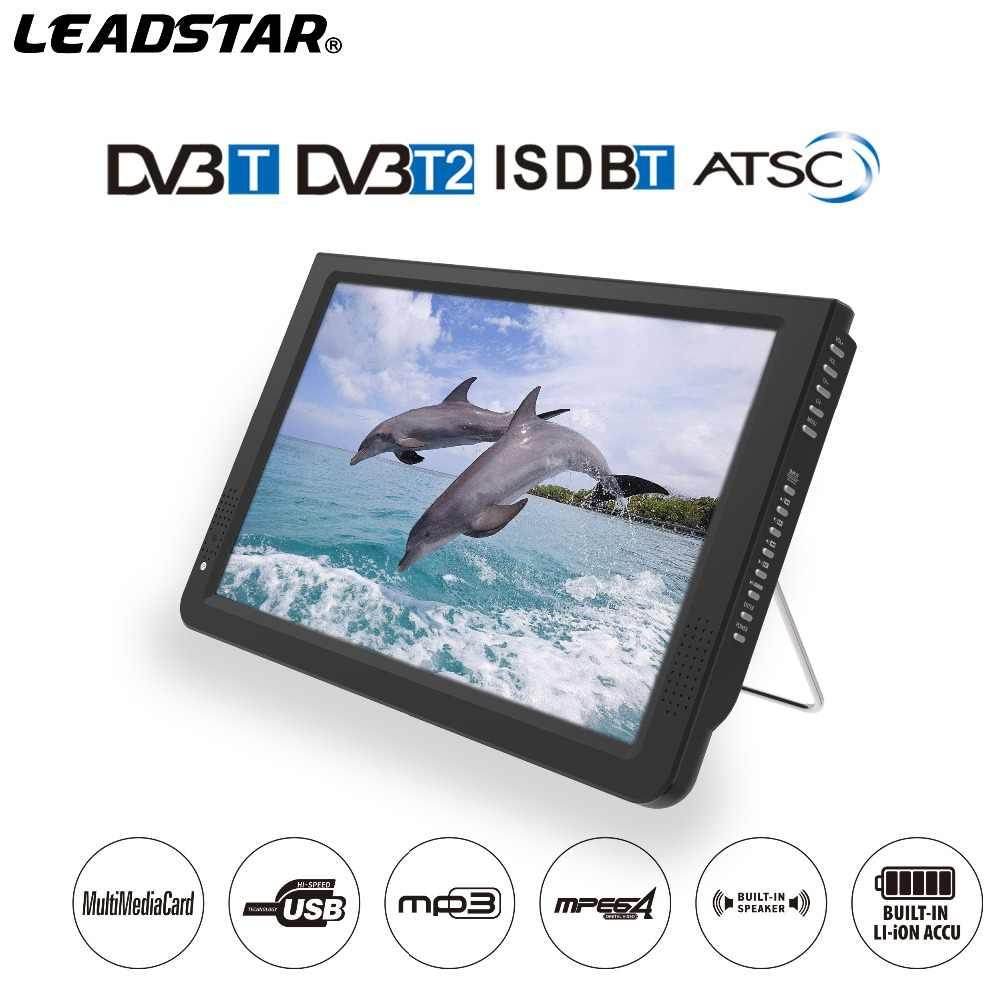 تلفاز رقمي محمول 12 بوصة ATSC DVBT2 DVBT ISDB مع وظيفة fm من Leadstar