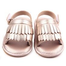 Летние детские сандалии; обувь ярких цветов с мягкой подошвой и бахромой; тапочки для маленьких девочек; обувь для малышей