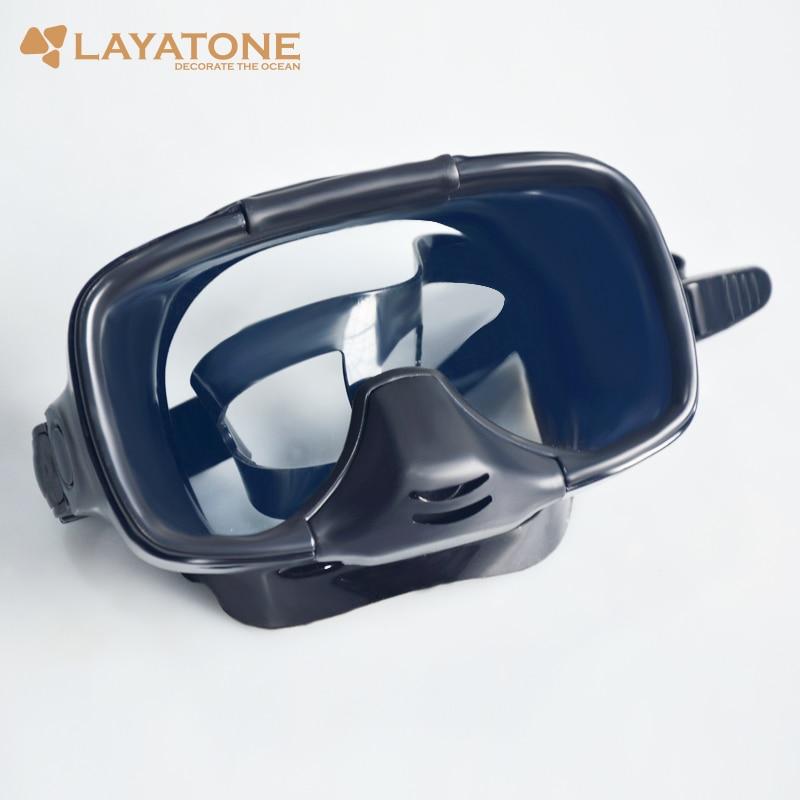 Layatone Diving Mask 스피어 낚시 스쿠버 다이빙 안경 풀 페이스 다이빙 마스크 수중 사냥 스노클링 수영 낚시 M255
