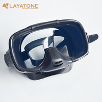 Layatone Diving Mask Spearfishing Scuba Diving Glasses Full Face Diving Mask Underwater Hunting Snorkeling Swimming Fishing M255