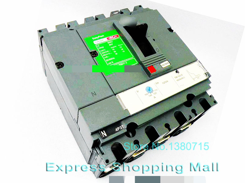 NEW CVS160F 4P 160A LV516343 EasyPact Moulded Case circuit break-er new cvs250f 3p 200a lv525332 easypact moulded case circuit break er