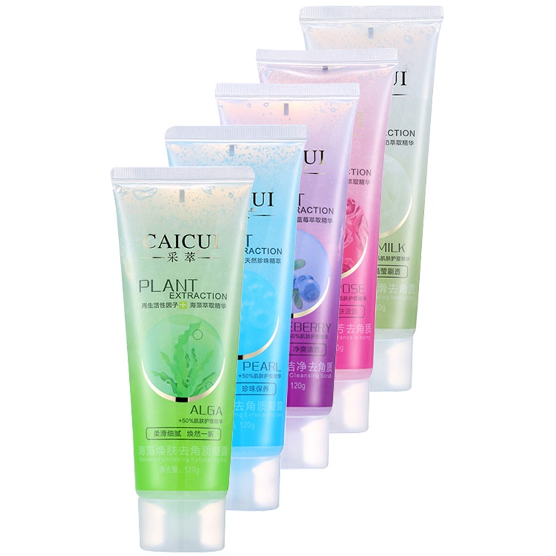 Deep Cleanser Natural Facial Exfoliating Cream Whitening Peeling Cream Gel Face Scrub Removal