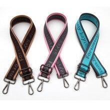 Купить с кэшбэком Women Bag Straps Handles Wide Colorful Crossbody Shoulder Bag Strap Replacement Strap Accessory Adjustable Nylon Belt KZ151325