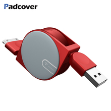 PADCOVER Usb Cable for IPhone 4S 4 Cable Retractable Charger Charging Cable 30pin for IPad 1 2 3 Cable IPod Nano Itouch Adapter