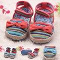 ST летом 2016 новый 0-2 лет девочка сначала ходить обувь девушка летний стиль прекрасные летние обувь детская девушка 441