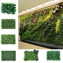 1pc Artificial Turf Carpet Simulation Plastic Boxwood Grass Mat 60cm*40cm Green Lawn For Home Garden Decoration