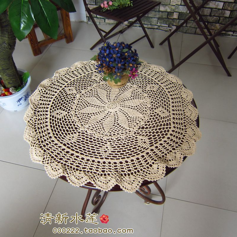 2014 New Fashion Design Cotton Crochet Lace Table Cover Tablecloth Towel  For Home Decor Cutout Crochet Decoration Table Cover