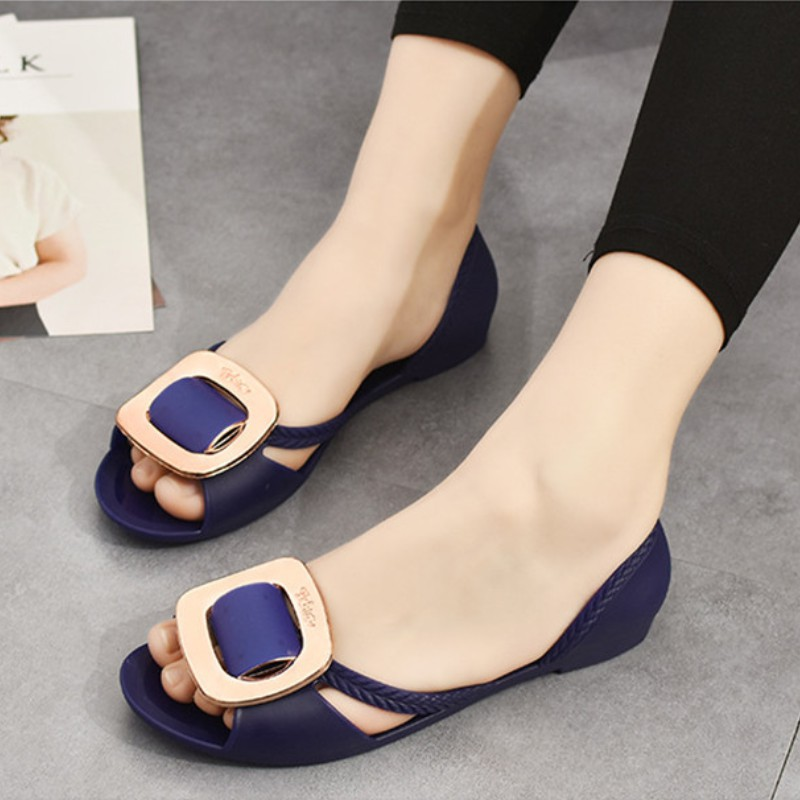 Ladies Sandals New Solid Flat Women Shoes Casual Summer Beach Women Sandals High Quality Fashion Ladies Shoes DBT581 fongimic summer women flat shoes comfortable casual all match beach sandals high quality girl beach flowers elastic band sandals