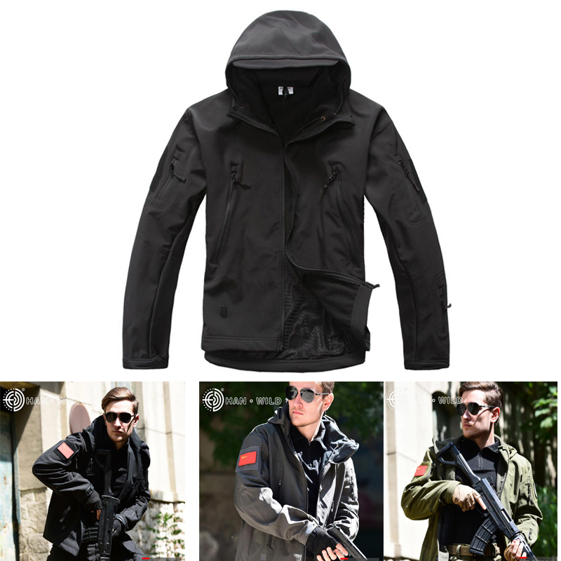 TAD Soft Shell Tactical Jacket Outdoor Waterproof Windproof Sport Jacket Military Hunting Clothes Hiking Camping Windbreaker in Hunting Coats Jackets from Sports Entertainment