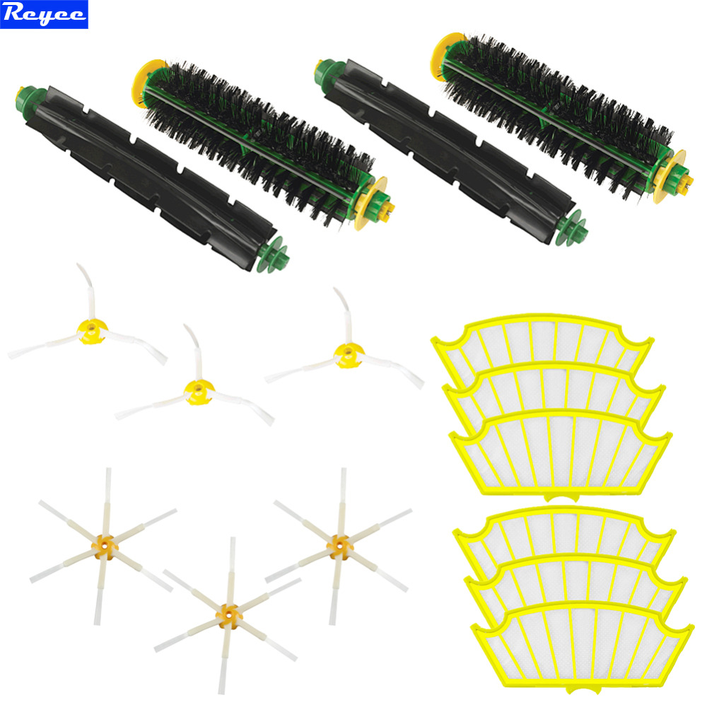 Filters & 3/6 armed Brush Filters Flexible Beater Bristle Brush for Roomba for iRobot Roomba 500 Series Vacuum 510 520 530 560 ntnt free post new bristle brush flexible beater brush for irobot roomba 500 series green