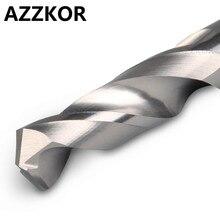 Сверло из карбида AZZKOR, Вольфрамовая сталь, супер твердое сверло из нержавеющей стали HRC50, сверло с прямой ручкой, твердое сверло для токарного станка с ЧПУ
