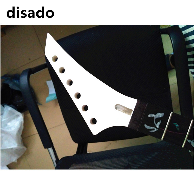disado 24 Frets Maple Electric Guitar Neck Rosewood Fingerboard inlay tree of life white headstock Guitar Parts accessories acoustic guitar neck fingerboard fretboard for guitar parts replacement rosewood zebrawood veneer