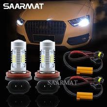 Пара светодиодный лампы H8 H9 H11 туман DRL дневного света лампы + Canbus декодеры для Audi A3 A4 A5 S5 A6 Q5 Q7 TT