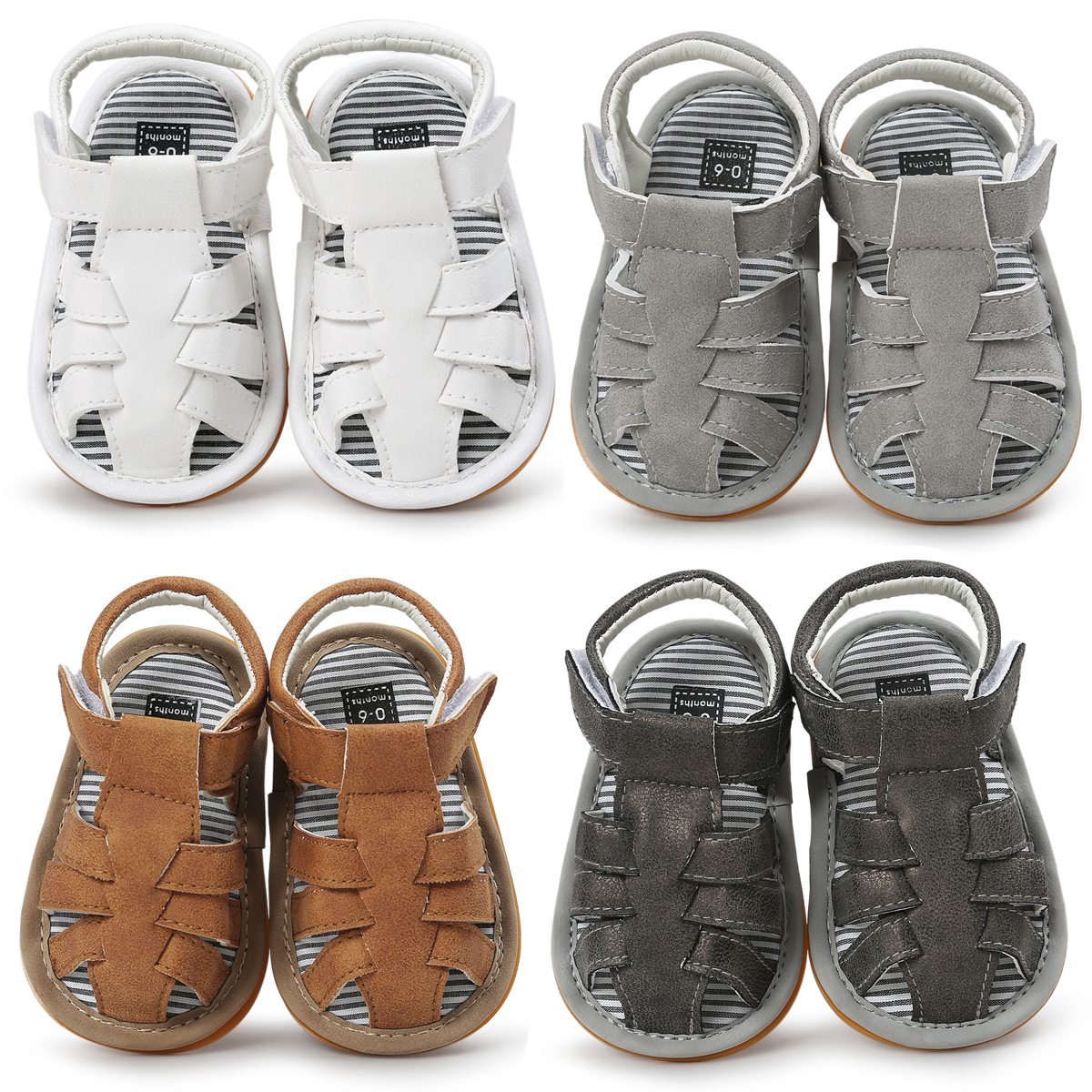 Romirus 2017 summer kids shoes brand closed toe toddler boys sandals orthopedic sport pu leather baby boys sandals shoes SD002 2018 brand kids sandals for boys sandals fashion summer children shoes baby boy closed toe beach toddler sandals for kids shoes